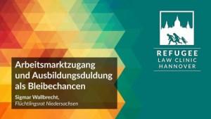 Einladung Ringvorlesung Arbeitsmarktzugang und Ausbildungsduldung als Bleibechancen 16.01.2018