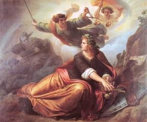 Kunstdruck Erwachende Germania, 1848/49