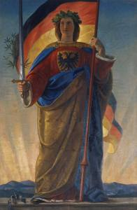 Germania 1848 (Philipp Veit 1793-1877). Kunstdruck