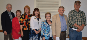 Event participants included (left to right) Joe Lovelace, Ruth Halleck, Sue Lazara, Tracy Cox, Linda Goller, Marshall McMillan, andy Clarence Burns. Photo courtesy of Jo Anna Duncan.