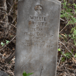 Headstone of Willie Pruitt located in Old Macedonia Cemetery. Photograph by Jo Anna Duncan