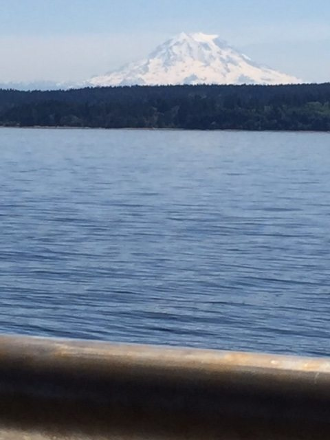 Beautiful view from the ferry to Vashon Island on a workday