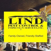 Lind Pest Control logo with Hobo Spider