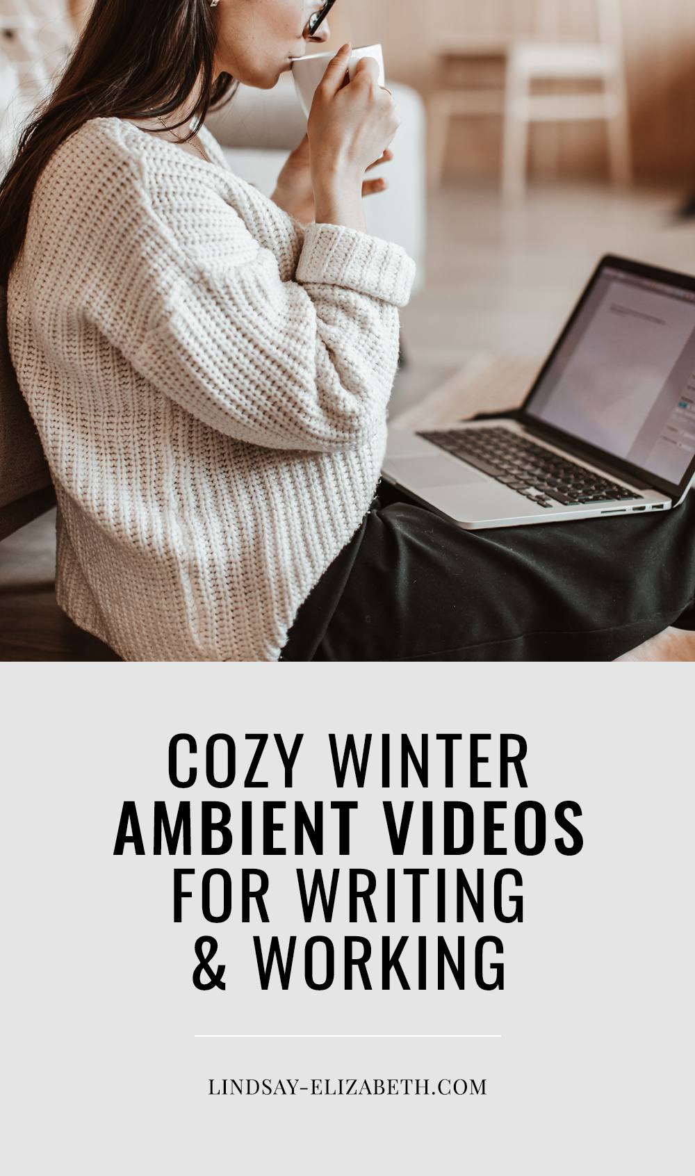 Ambient sounds (the background noise of an atmosphere) are known to help people focus better. Try these cozy ambient videos with winter and holiday themes to help you focus while writing and working and get into the spirit of the season. #writingtips #productivityhack #productivity #creativity