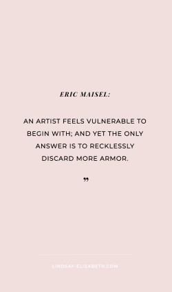 Inspiring quotes on creativity, creative blocks, being an artist, and taking risks to you get you unstuck and motivated.
