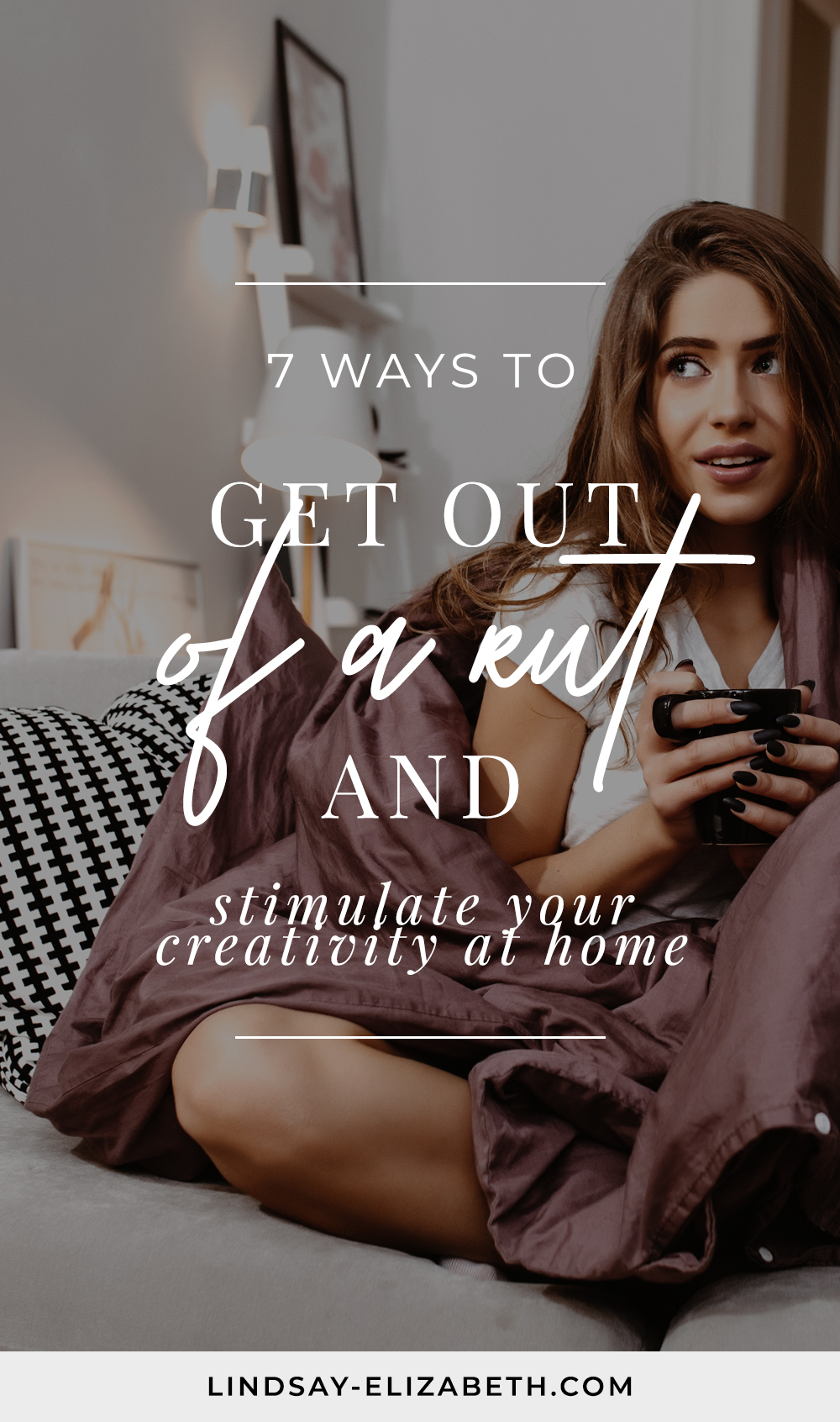 Have you been feeling drained and uninspired? You aren't alone — getting stuck in a rut can happen to anyone, especially right now. But there are always opportunities to get your creative juices flowing and make you feel alive again ─ and you don't even have to leave your home to do them. Here are some easy ideas on how to get out of a rut and stimulate your creativity at home. #creativeblocks #selfcare #lackingmotivation #stuckinarut #selfhelp