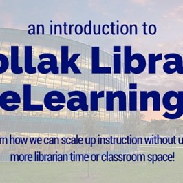blog title: intro to library elearning