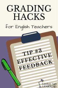 Effective Teacher Feedback in the ELA Classroom