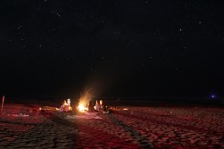 Stars over the campfire.