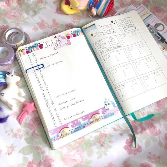 Trigger Tracker Layout as used by juliettestudios