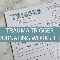 Trigger-Tracker Worksheet for Mental Health Journaling and Self-Advocacy