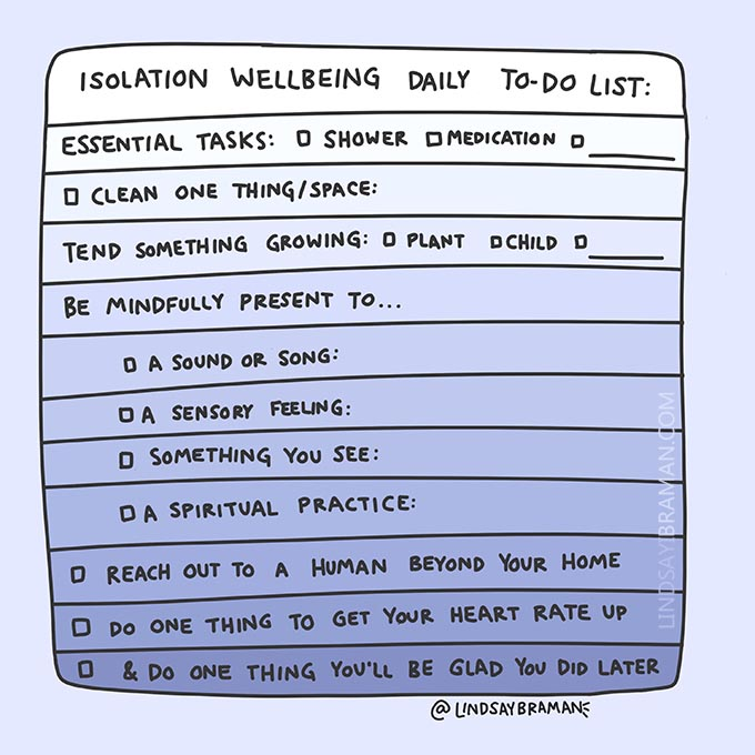 Isolation Mental Health Wellbeing Daily To-Do List ...