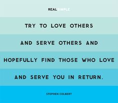 love others.