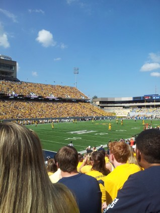 9/28/13 at Mountaineer Field!