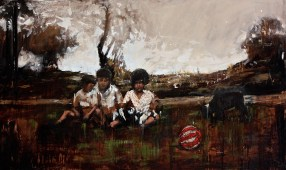 """The Afternoon / Oil on Canvas / 36"""" x 60"""" / For Sale"""