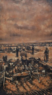 """After the Massacre"" / Oil on Canvas / 40"" x 72"" / For Sale"