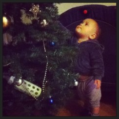 I guess he thought the bottle made a nice ornament