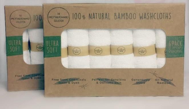 The Motherhood Collection natural bamboo washcloths