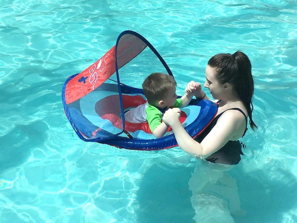 Lindsay Satmary Swimming Baby