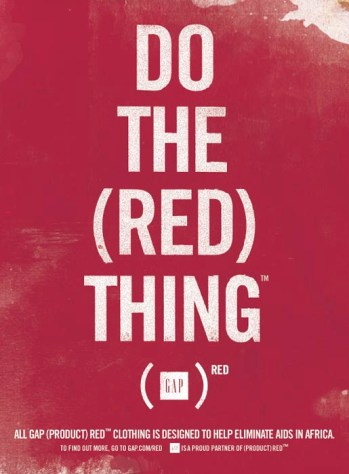 Gap (RED) Campaign