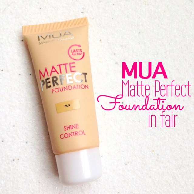 MUA Matte Perfect Foundation