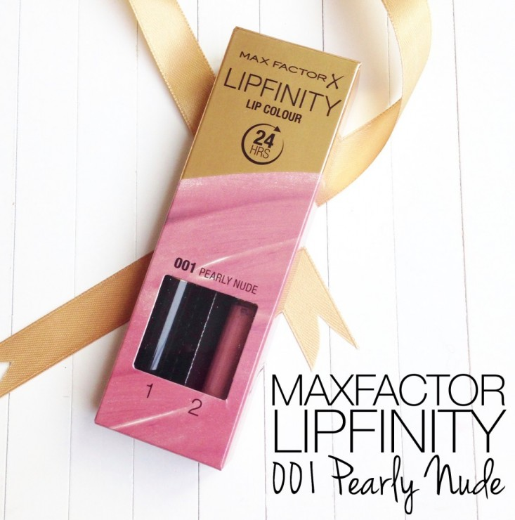 Maxfactor Lipfinity in 001 Pearly Nude
