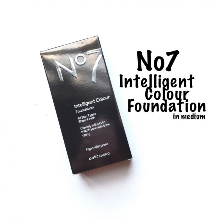No7 Intelligent Colour Foundation in Medium