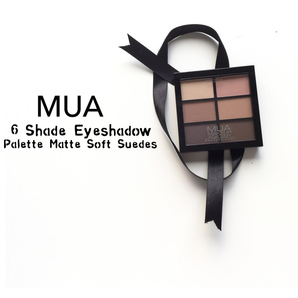 MUA 6 Shade Eyeshadow Palette Matte Soft Suedes