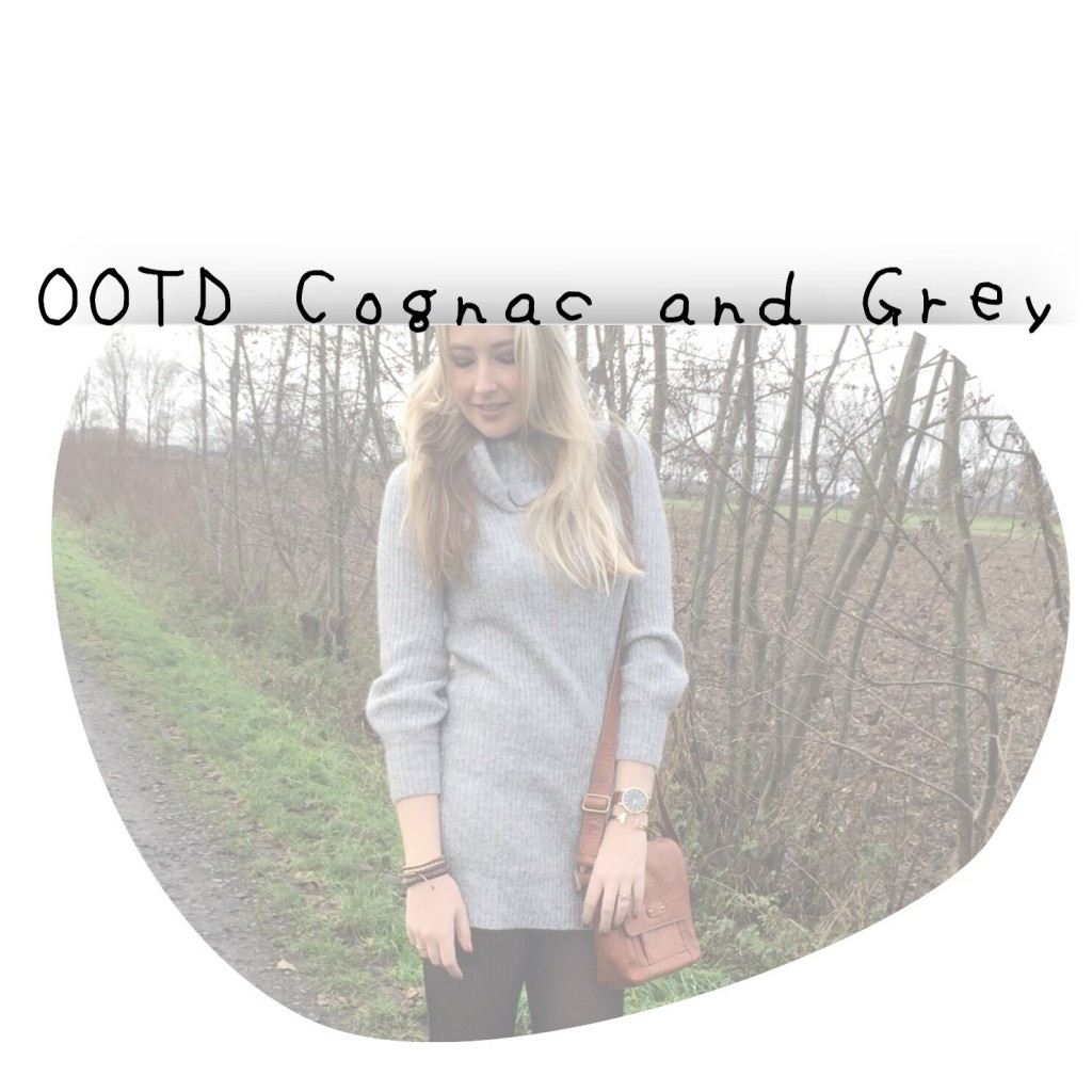 OOTD Cognac and Grey
