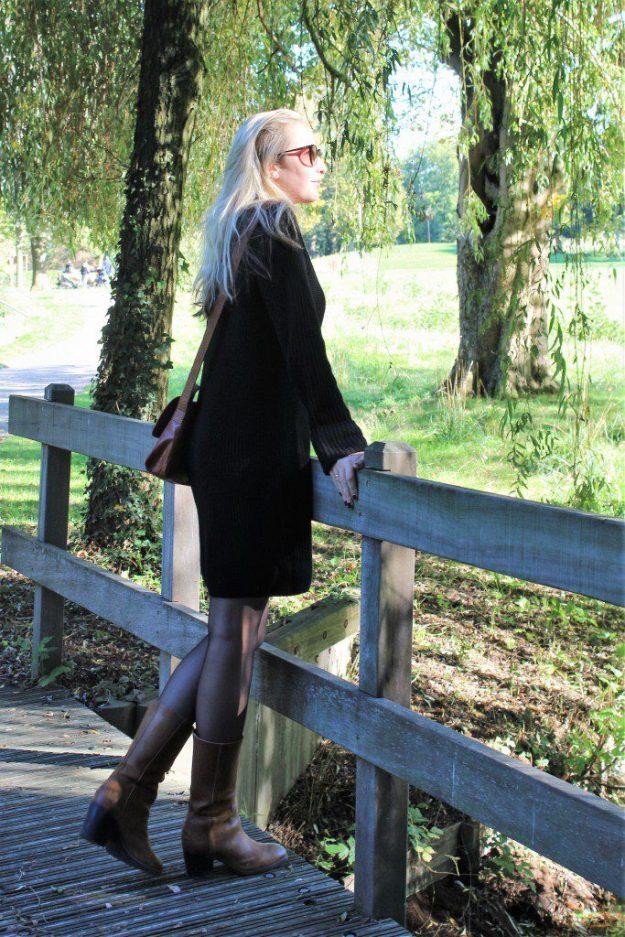 OOTD Black Sweater Dress