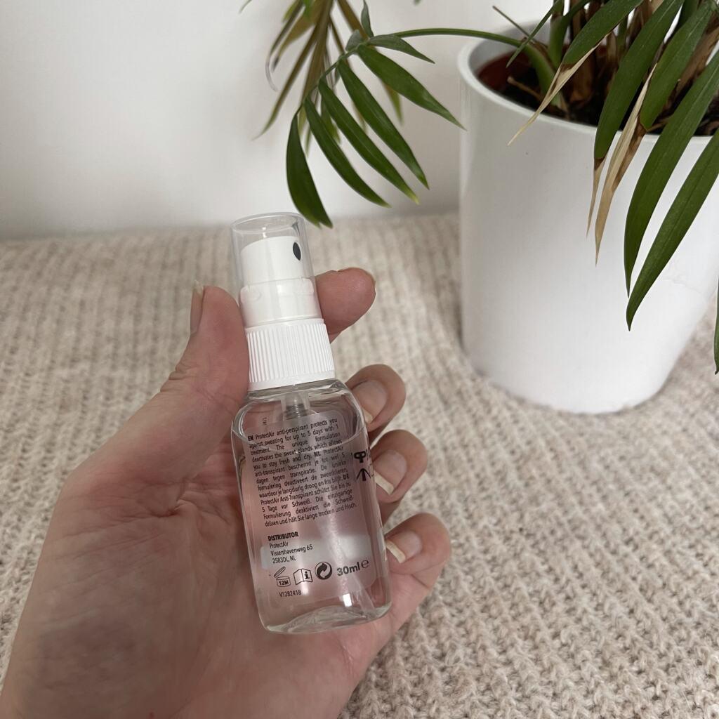 ProtectAir anti-transpirant spray