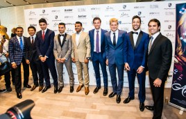 F1 drivers dressed by Apsley at Amber Lounge