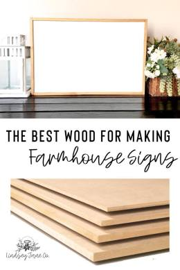 Best wood for farmhouse signs