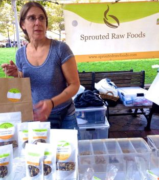 """""""It's farm fresh, so it's farm to table and not only are you supporting local farmers or local people who make products like this, you're getting good healthy, quality, delicious products,"""" said Angela Hofmann, founder of Sprouted Raw Foods."""
