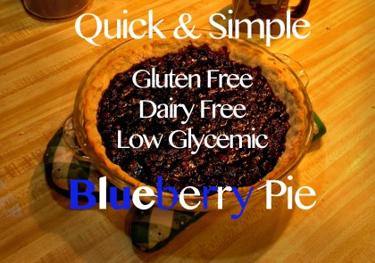gluten free blueberry pie recipe dairy free low glycemic easy quick simple cheap inexpensive