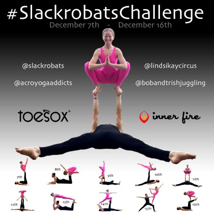 Slackrobats Challenge December 2016 lindsikaycircus LindsiKay Slackrobats