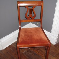 Lyre Chair Makeover with Gel Stain