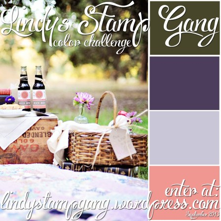 0913 September color challenge for Lindy's Stamp Gang