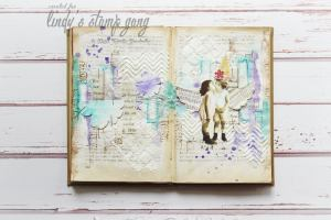 art journal2 page color challenge may 2016