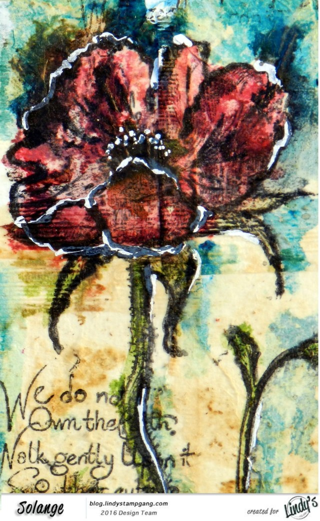 watercolor on tea bag by Solange Marques using Magical Lindy's Stamp Gang -08