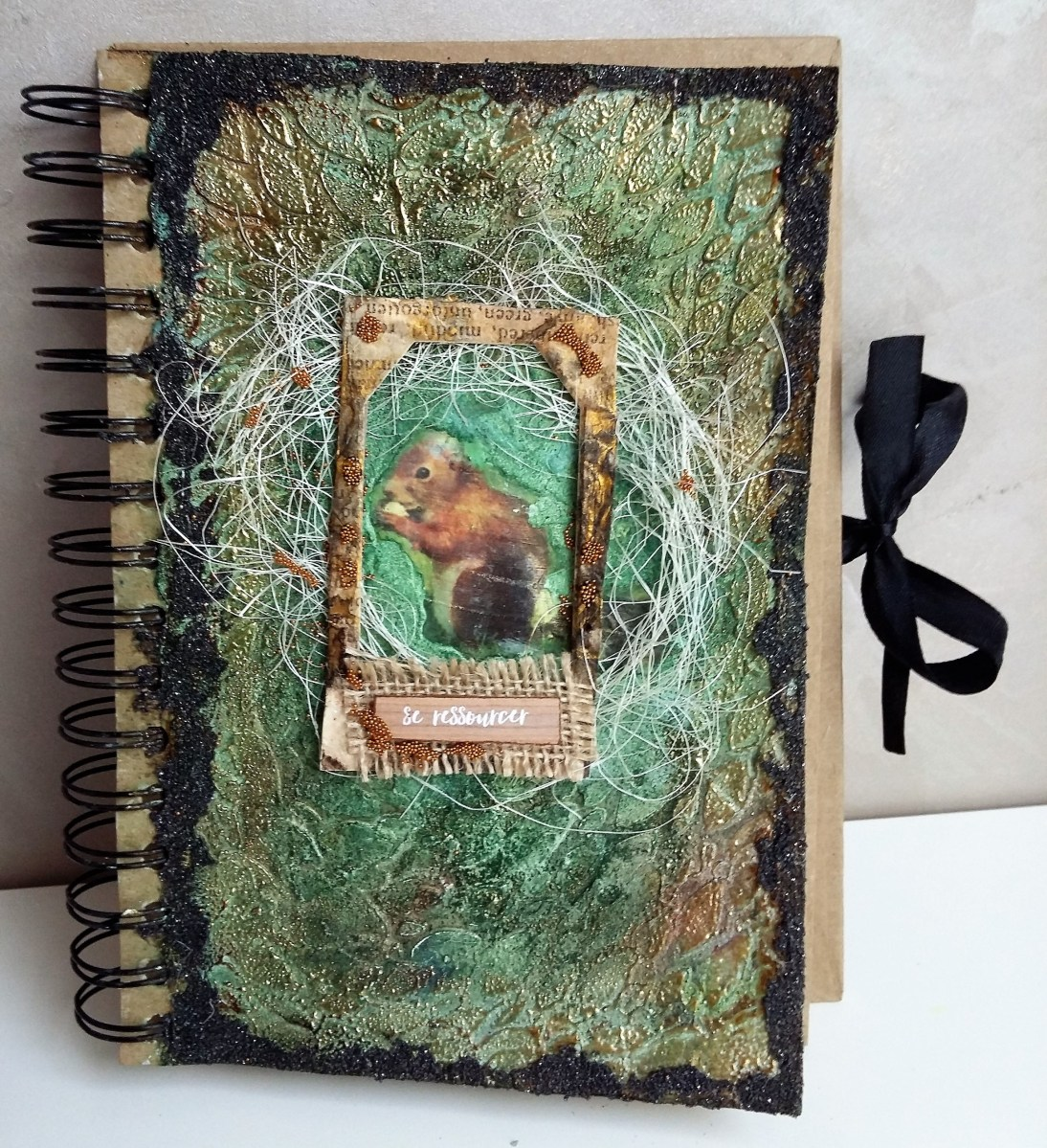 Textured Art Journal Cover with Guest Stephanie Ber