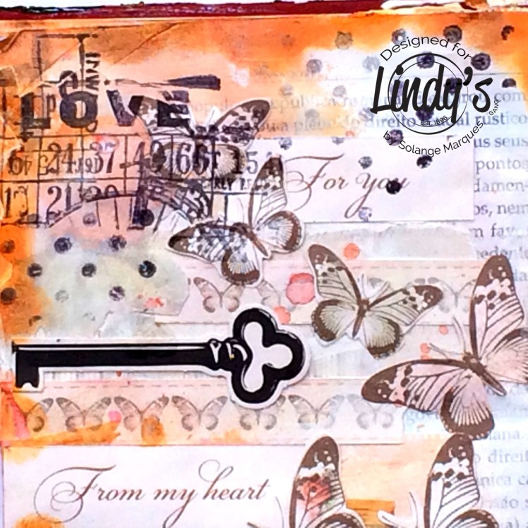 art journal pages by Solange marques with Lindy's Stamp Gang products-07