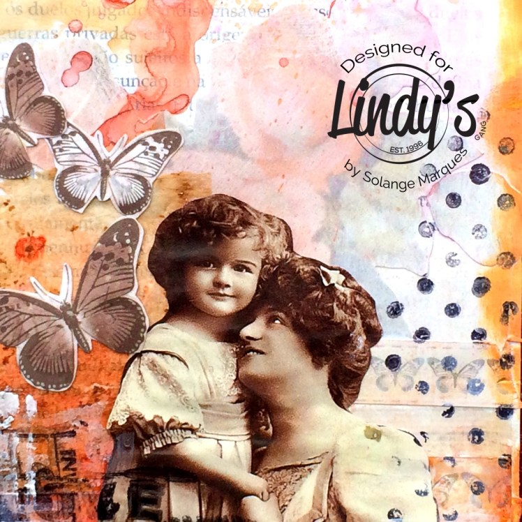 art journal pages by Solange marques with Lindy's Stamp Gang products-11