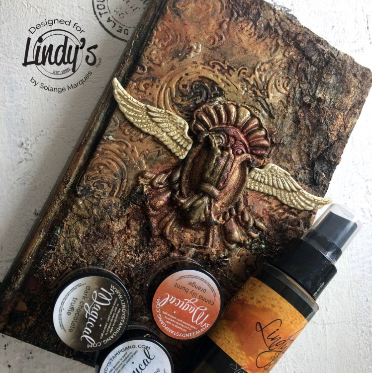 altered book cover by Solange marques with lindy's Gang products-09