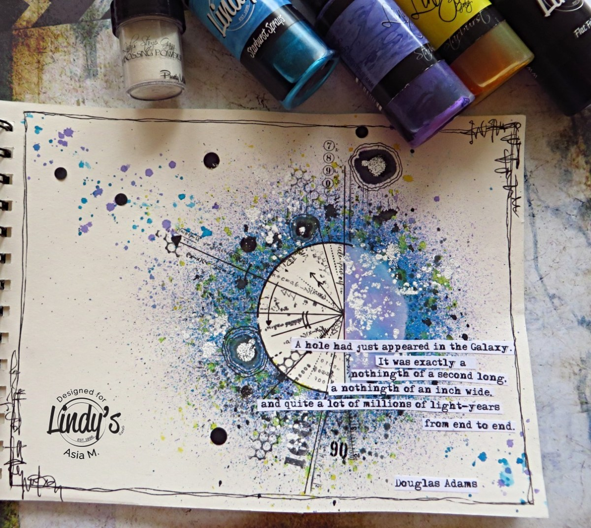 The Hitchhiker's Guide to the Galaxy Page using Lindy's