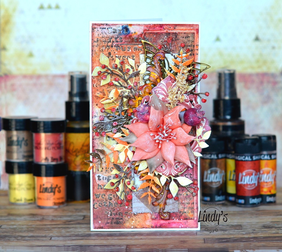 Autumn Mixed Media Card Tutorial with Olga Bielska