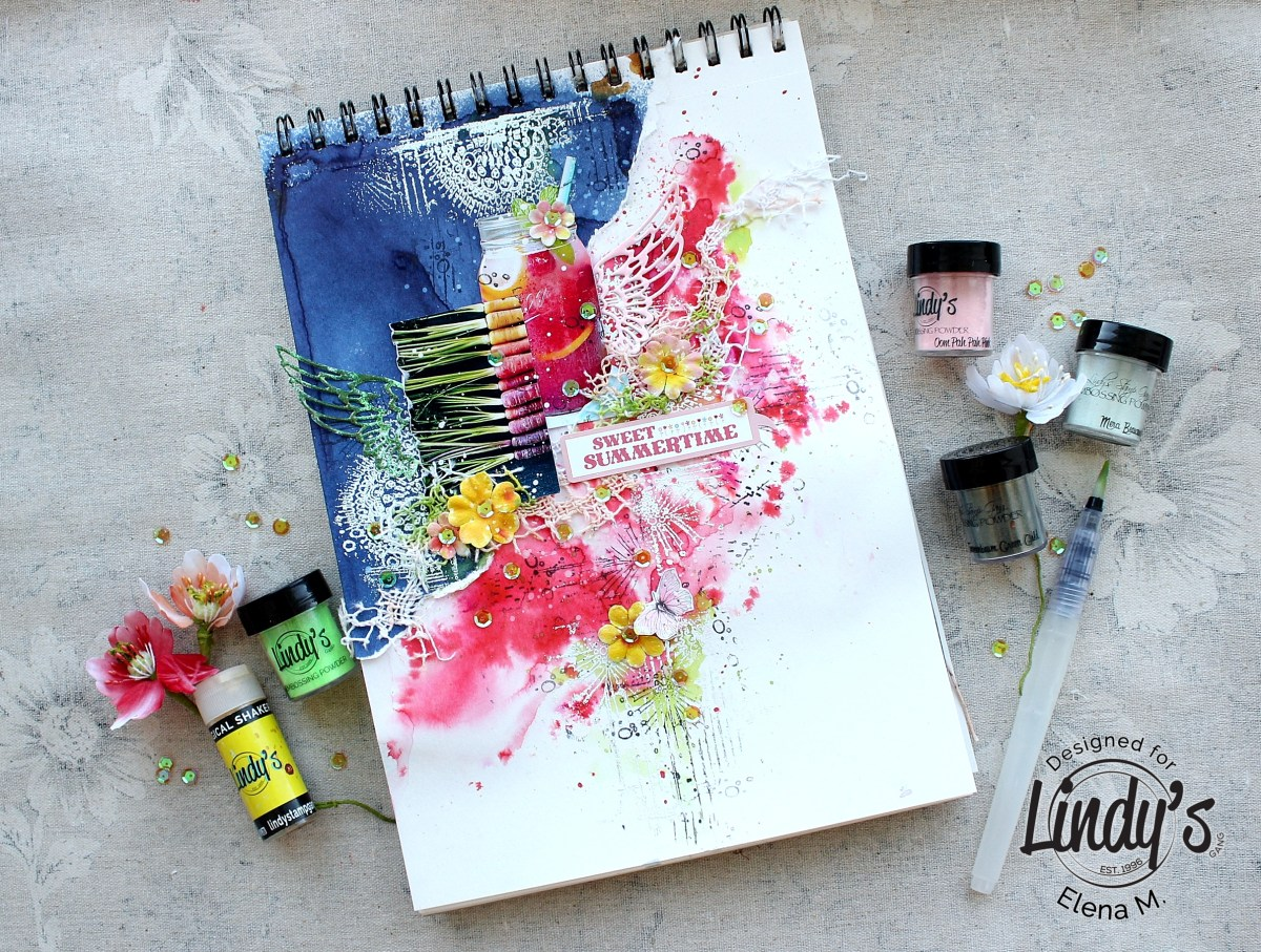 Art Journal Page Sweet Summertime with Elena