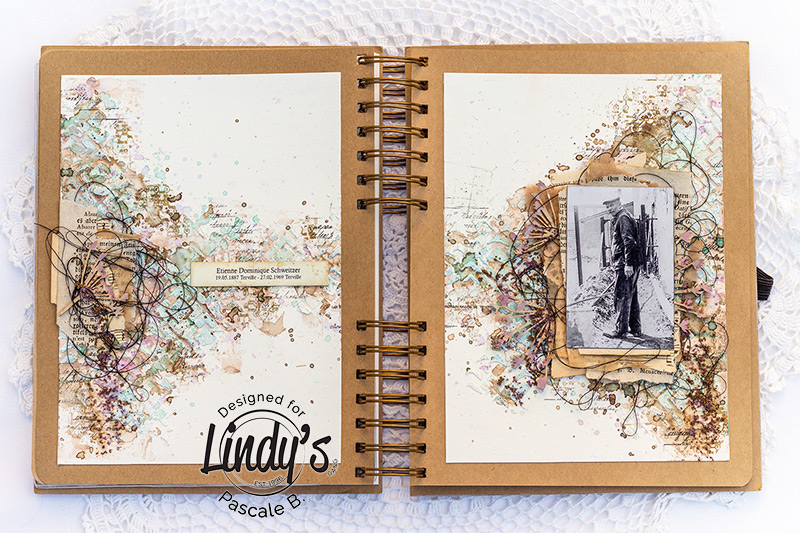 Vintage Art Journal Page with Pascale