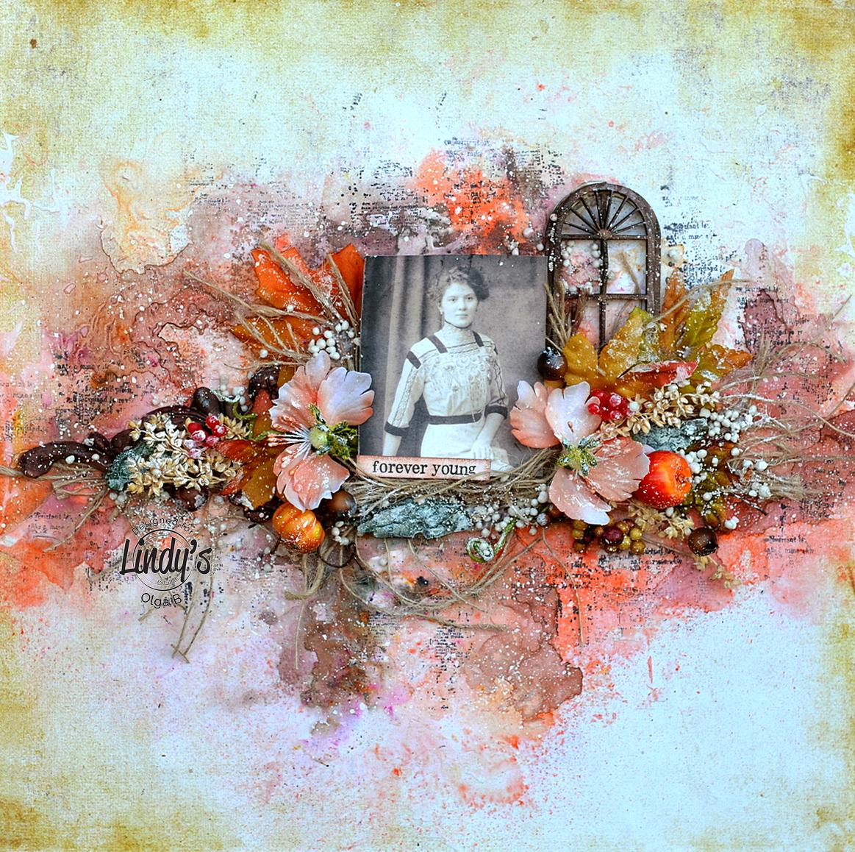 Autumn Layout - Mixed Media Tutorial by Olga Bielska