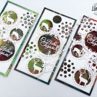 "Mixed Media Cards ""Happy Holidays"" with Yulianna"